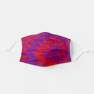 Spiral Tie Red and Blue Cloth Face Mask