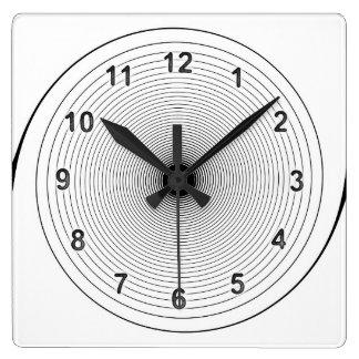 Spiral Time Square Wallclock