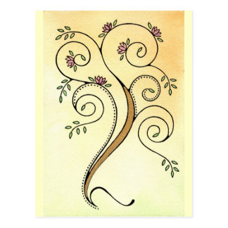 Spiral Tree Postcard