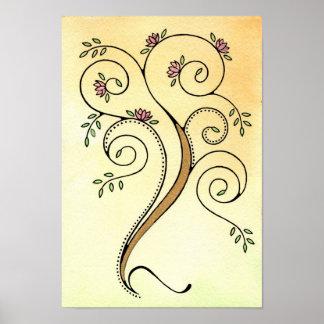 Spiral Tree Print