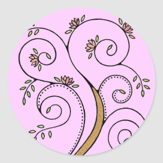 Spiral Tree Stickers