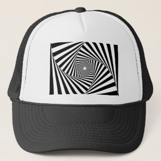 SPIRAL TUNNEL ( a Black & White Design) ~ Trucker Hat