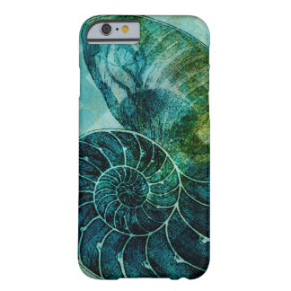 Spiral Turquoise Conch Shell Barely There iPhone 6 Case