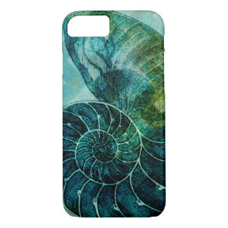 Spiral Turquoise Conch Shell iPhone 8/7 Case