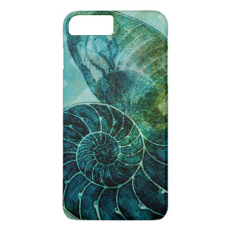 Spiral Turquoise Conch Shell iPhone 8 Plus/7 Plus Case