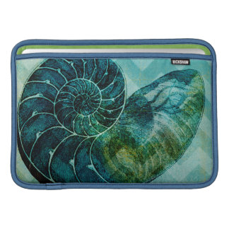 Spiral Turquoise Conch Shell MacBook Air Sleeve