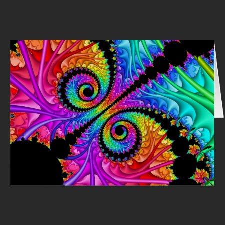 Spiral Twins Fractal Card