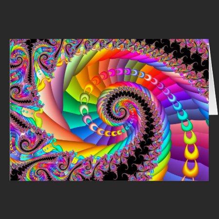 Spiral Twist Fractal Card