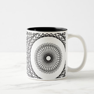 spiral Two-Tone coffee mug