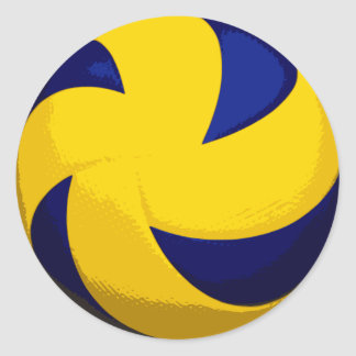 Spiral Volleyball Stickers