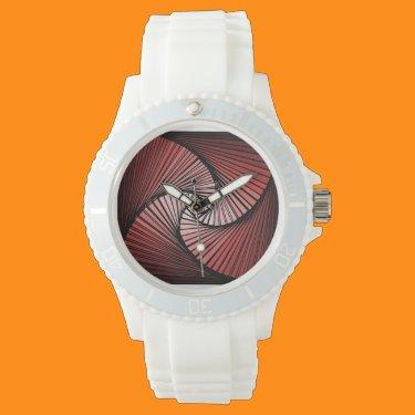 Spiral watch red