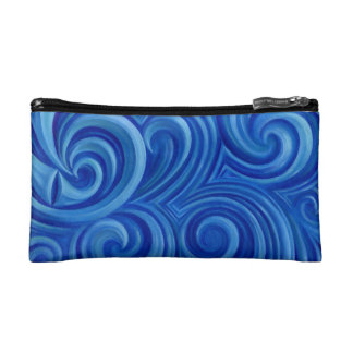 spiral wave cosmetic bag
