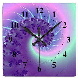 Spiral Wave Fractal Wall Clock