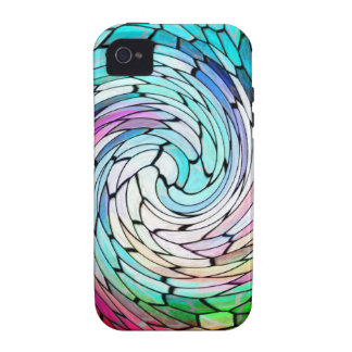 Spiral Wave Graphite Abstract Antique Junk Style F Case-Mate iPhone 4 Case