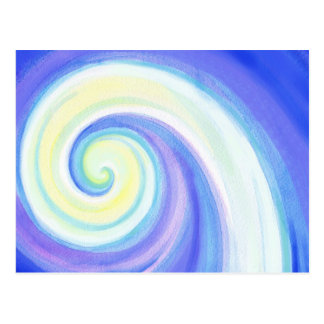 Spiral, Wave Shell Water Colour Postcards