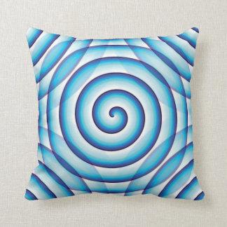 Spiral Wave Throw Pillow