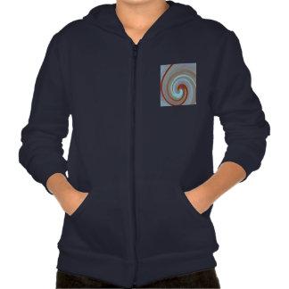 Spiral Waves : Apparel California Fleece Zip Hoodi Hooded Sweatshirts