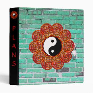 Spiral Yin Yang Sun and Brick Customizable Binder