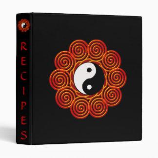 Spiral Yin Yang Sun Customizable Binder