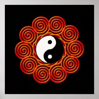 Spiral Yin Yang Sun Poster