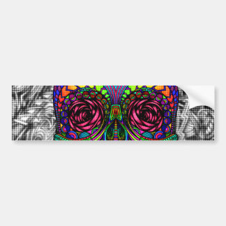 Spiral Zen Candy Skull Abstract Art Dead Head Bumper Sticker