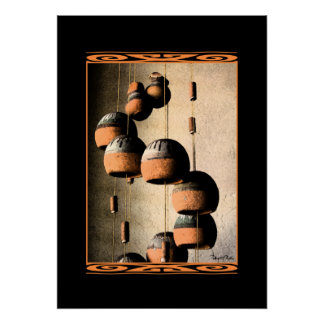 Spiraled Clay Wind Chimes Still Life 20 X 28 Poster