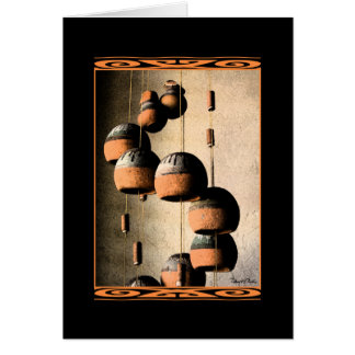 Spiraled Clay Wind Chimes Still Life Greeting Card