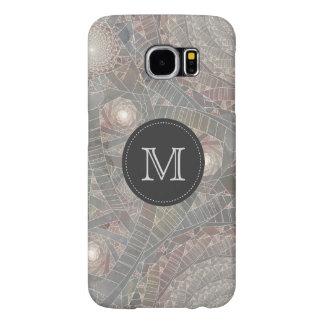 """""""spiralfilmfrost"""" Pastel Fractal Monogrammed Samsung Galaxy S6 Case"""