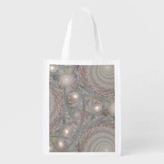 """spiralfilmfrost"" Reusable Grocery Bag"