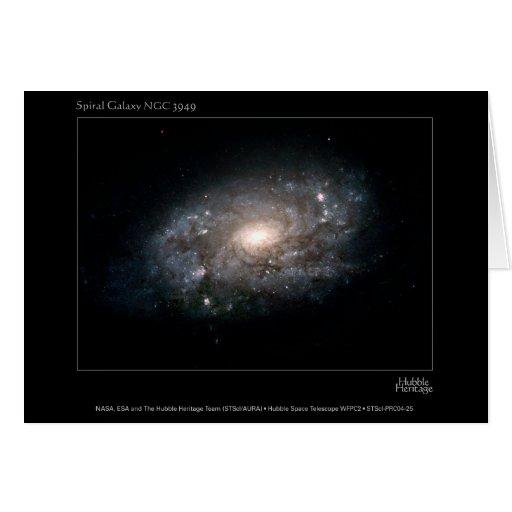 SpiralGalaxy-NGC3949-2004-25 Greeting Card