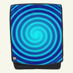 Spiraling Blue Vertigo Backpack
