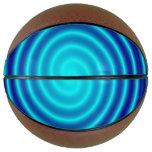 Spiraling Blue Vertigo Basketball
