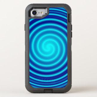 Spiraling Blue Vertigo OtterBox Defender iPhone 7 Case