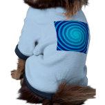 Spiraling Blue Vertigo Pet Clothing