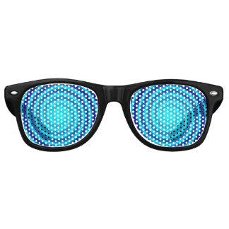 Spiraling Blue Vertigo Retro Sunglasses