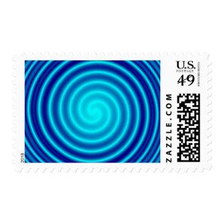 Spiraling Blue Vertigo Stamp