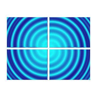 Spiraling Blue Vertigo Stretched Canvas Print