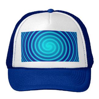 Spiraling Blue Vertigo Trucker Hat