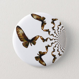 Spiraling Butterflies On A White Background Pinback Button