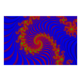 Spiraling Optical Games Poster