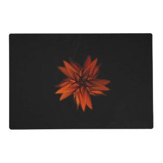 Spiraling Orange Star Placemat
