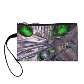 Spiraling out of Control Abstract Coin Purse