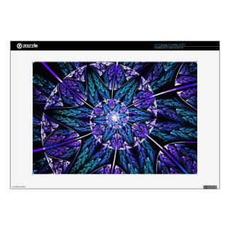 "Spiraling Petals Fractal Design Skin for Laptops Decal For 15"" Laptop"