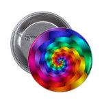 Spiraling Rainbow Rose 2 Inch Round Button