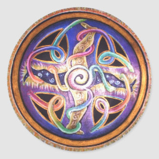Spiraling Wheel of Energy Mandala Sticker