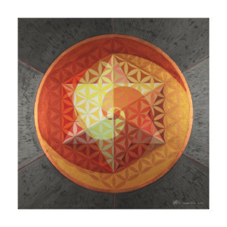 Spiralling Star Tetrahedron Stretched Canvas Print