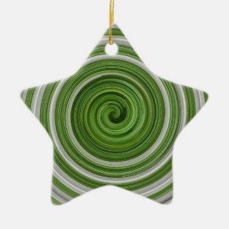 spiralpattern Verde-blanco Adorno Para Reyes