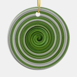 spiralpattern Verde-blanco Ornato