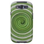 spiralpattern Verde-blanco Galaxy S3 Coberturas