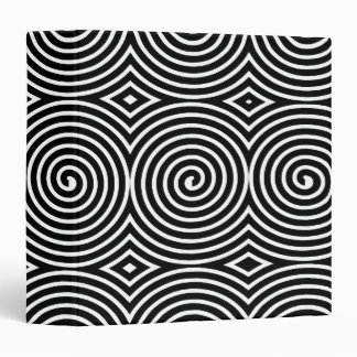 Spirals (1.5in) - Black on White Binder